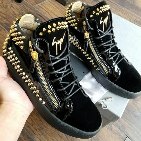 cefdc0d6d4099 Giuseppe Zanotti Shoes | Gold Spikes Men Us 9 | Poshmark